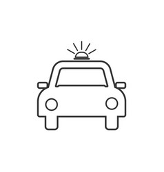 police car icon flat design vector image