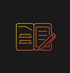 Portfolio folder gradient icon for dark theme vector