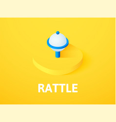 rattle isometric icon isolated on color vector image