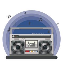Retro portable boombox vector