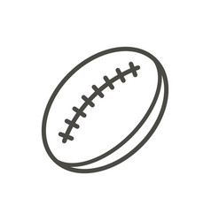 rugby ball icon line rugby symbol vector image