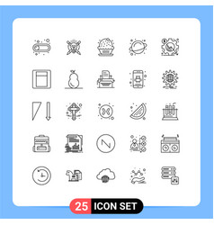 Set 25 commercial lines pack for chart vector