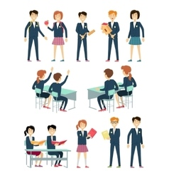 Set of School Education Situation vector