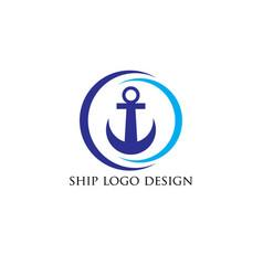 Ship-wheel logo-design vector
