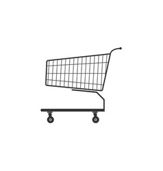 shopping cart icon isolated flat design vector image