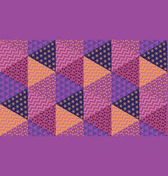 simple 60s vivid geometric seamless pattern vector image