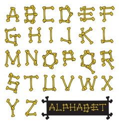 skull bone alphabet resize vector image