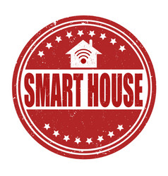 smart house grunge rubber stamp on white vector image