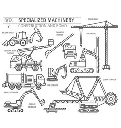 Special industrial construction and road machine vector