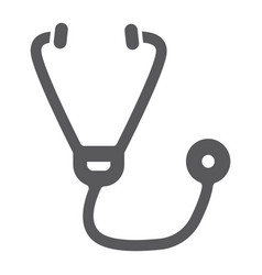 Stethoscope glyph icon medicine and cardiology vector