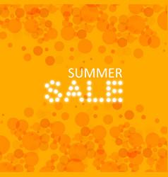summer sale lettering over orange blurred vector image