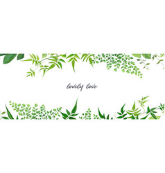 Tropical forest greenery leaves branches jasmine vector