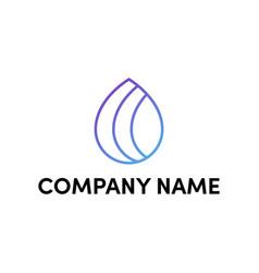 water drop logo design vector image