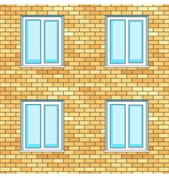 Windows on wall vector image