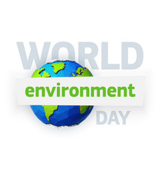 World environment day earth day banner low poly vector