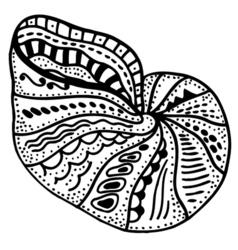 Zentangle stylized shell vector image