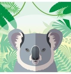 Koala on the Jungle Background vector image vector image
