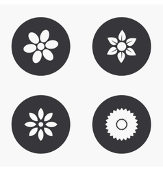 modern flower icons set vector image vector image