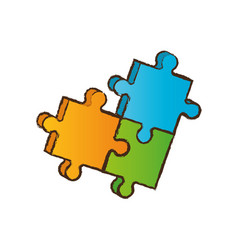 Puzzle piece business image vector