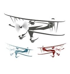 Retro Airplane Emblem Set vector image