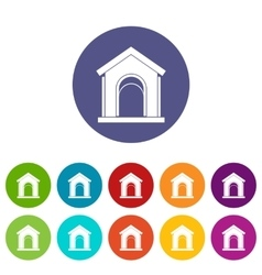 Toy house set icons vector image