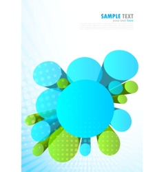 background with 3d circles vector image vector image