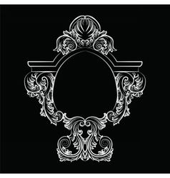 Baroque Rococo Exquisite Mirror frame decor vector image vector image