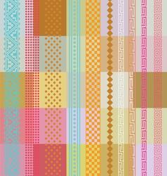 Color ornamental wallpaper vector image