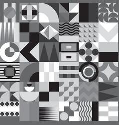 geometric mosaic seamless pattern vector image vector image