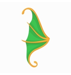 Green butterfly wing icon cartoon style vector image
