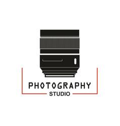 photo studio camera lens icon vector image