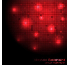 red tech background vector image