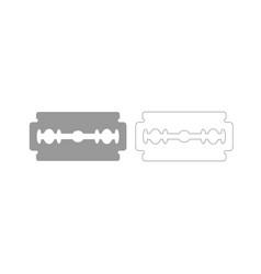 blade razor grey set icon vector image