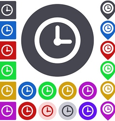 Color time icon set vector