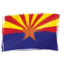 Grunge Arizona flag vector image