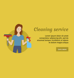 member of cleaning service with broom and cleaner vector image
