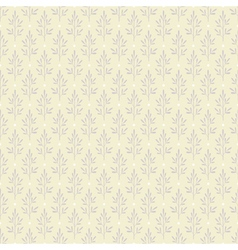 Seamless pattern with plants in pastel colors vector image vector image