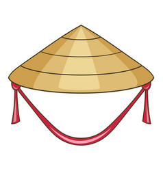 asian conical hat icon cartoon style vector image vector image