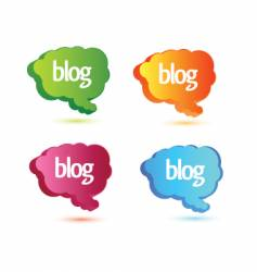 blog design elements vector image vector image