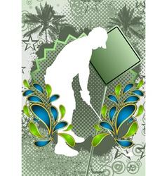 golf summer background vector image