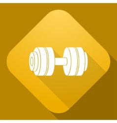 icon of Dumbbell with a long shadow vector image