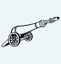 Medieval cannon vector image