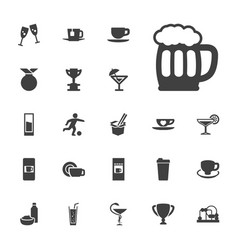 22 cup icons vector