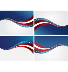 American Flag background for Independence vector image