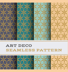 art deco seamless pattern 25 vector image