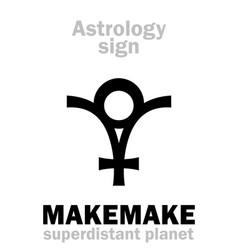 Astrology planet makemake vector