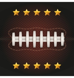 background american football ball vector image