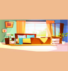 bedroom room interior vector image
