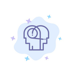 Better communication hearing human blue icon on vector