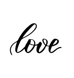 brush calligraphy love vector image